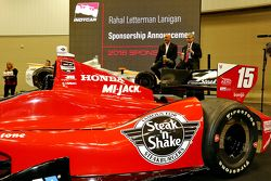 Bobby Rahal y Steak-N-Shake SVP de Marketing Jim Flanikan