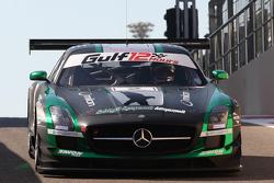#2 Black Falcon, Mercedes SLS AMG: Yelmer Buurman, Hubert Haupt, Abdulaziz Al Faisal