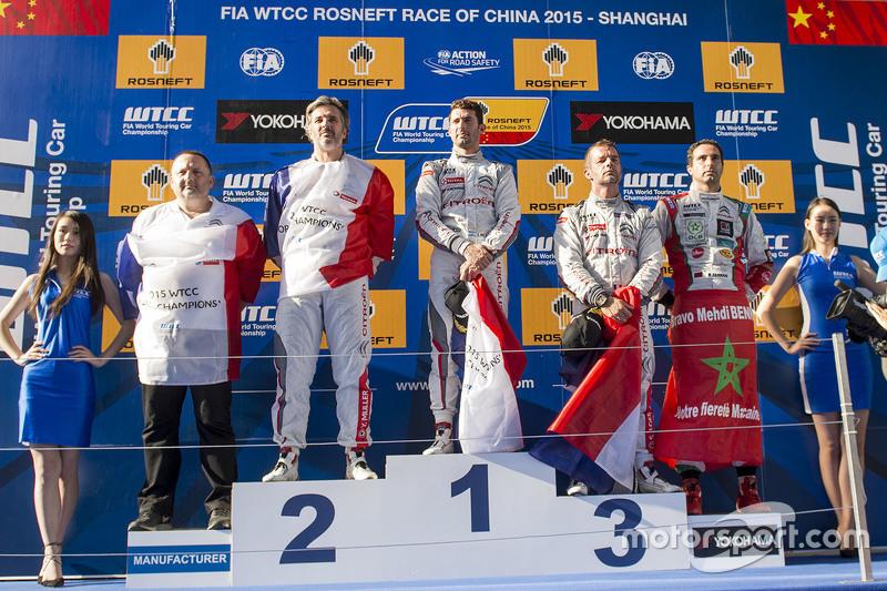 领奖台:冠军何塞·玛利亚·洛佩兹,雪铁龙WTCC车队;亚军伊万·穆勒,雪铁龙WTCC车队;季军塞巴斯蒂安·勒布,雪铁龙WTCC车队