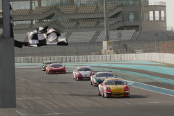 #40 Brookspeed Porsche 991 takes the checkered flag in part 1 of the race