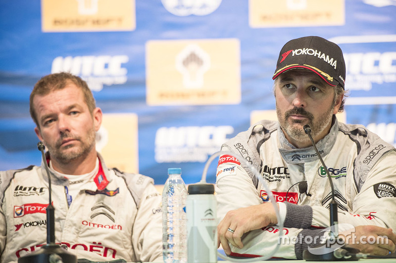 Press conference: Yvan Muller, Citroën C-Elysee WTCC, Citroën World Touring Car team and Sébastien Loeb, Citroën C-Elysee WTCC, Citroën World Touring Car team