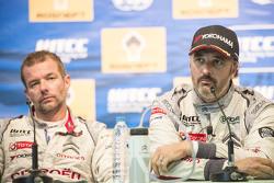 Conferencia de prensa: Yvan Muller, Citroën C-Elysee WTCC, Citroën World Touring Car team y Sébastien Loeb, Citroën C-Elysee WTCC, Citroën World Touring Car team