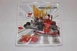 Le calendrier 2016 Cirebox Motorsport.com sous son film plastique