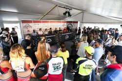 Daniel Ricciardo in der Pressekonferenz