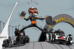 Le dessin du mois de juin du Calendrier 2016 Cirebox Motorsport.com