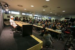 L'ambiance lors de la conférence de presse