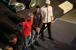 Esteban Ocon, Felix Rosenqvist, Pascal Wehrlein, Lewis Hamilton, Mercedes AMG F1,Sebastian Asch, Luca Ludwig