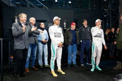 2015 F1 champion Lewis Hamilton and Nico Rosberg