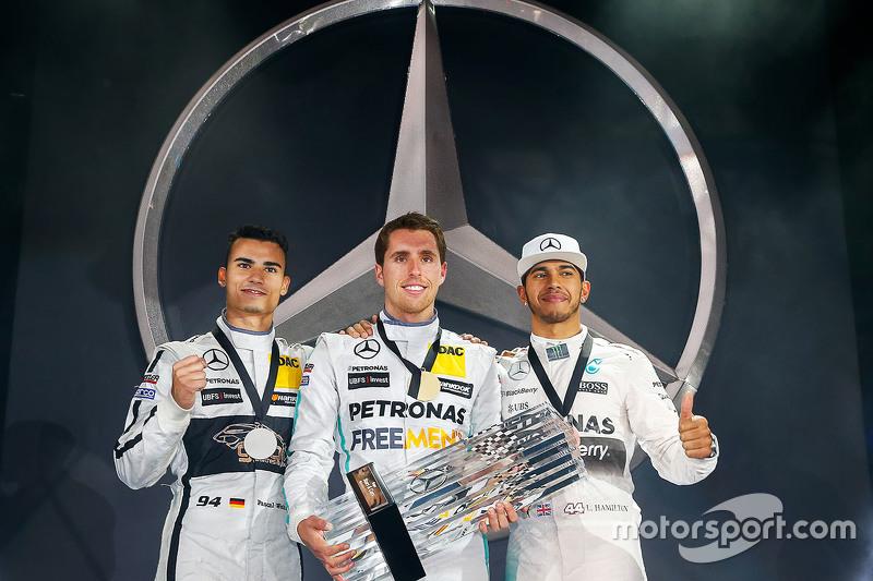 Daniel Juncadella fica em primeiro no desafio, seguido por Pascal Wehrlein e Lewis Hamilton