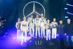 Sebastian Asch, Luca Ludwig, Nico Rosberg, Mercedes AMG F1, Pascal Wehrlein, Daniel Juncadella, Lewis Hamilton, Mercedes AMG F1, Felix Rosenquist, Mick Schumacher, Prof. Dr. Thomas Weber, member of the Board of Management of Daimler AG, Dr. Dieter Zetsche