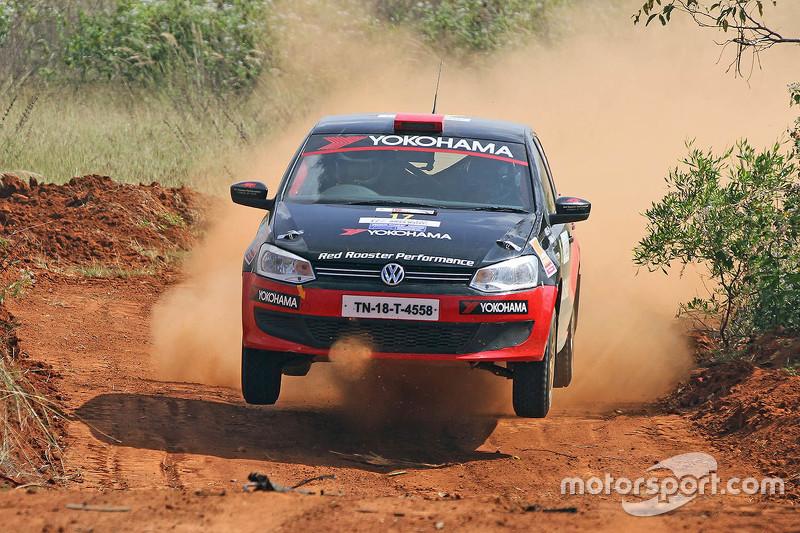 Karna Kadur And Vivek Ponnusamy Volkswagen Polo At Fia Asia Cup India