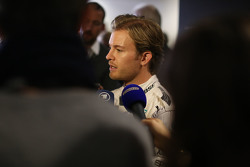 Nico Rosberg, Mercedes AMG F1 with the media