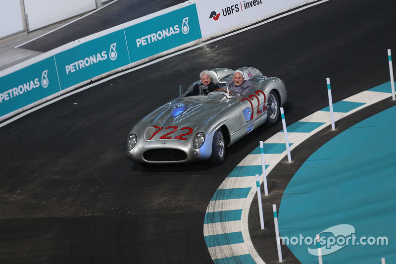 Stirling Moss and Hans Herrmann, Mercedes-Benz 300 SLR