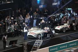 Stirling Moss and Hans Herrmann, Mercedes-Benz 300 SLR
