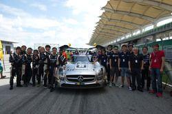 #35 Team AAI, Mercedes SLS AMG GT3: Han-Chen Chen, Nobuteru Taniguchi, Hiroki Yoshimoto, Tatsuya Tan