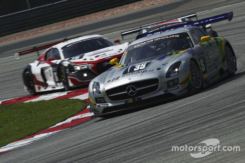 #35 Team AAI Mercedes SLS AMG GT3: Han Chen Chen, Nobuteru Taniguchi, Hiroki Yoshimoto, Tatsuya Tani