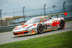 #1 Clearwater Racing Ferrari 458 GT3: Mok Weng Sun, Gianmaria Bruni, Matt Griffin, James Calado