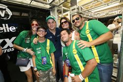 Felipe Massa visited the paddock