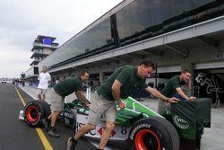 Mecánicos de Jaguar Racing