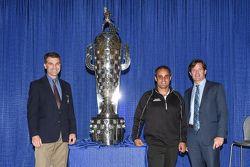 Juan Pablo Montoya, Team Penske with IMS President Doug Boles