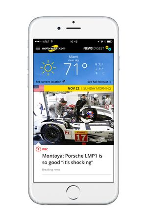 L'application Motorsport.com New Digest