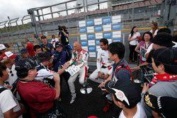 蒂亚戈·蒙特罗,本田JAS车队;诺伯特·米切利斯,赞戈车队;加布里埃尔莱·塔奎尼,本田JAS车队