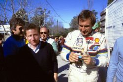 Jean Todt, head of Peugeot Sport and Carlos Reutemann