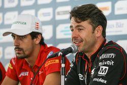 Nelson Piquet Jr., NEXTEV TCR Formula E Team, und Oriol Servia