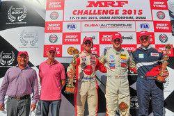 Podium: Winnaar Alessio Picariello, tweede Pietro Fittipaldi, derde Nikita Troitskiy