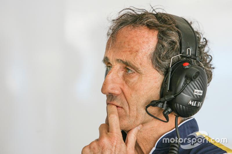 Alain Prost acompanhou desempenho de seu filho