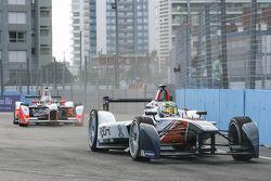 Nathanael Berthon, Team Aguri and Bruno Senna, Mahindra Racing Formula E Team