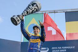 Podium: winnaar Sébastien Buemi, Renault e.Dams