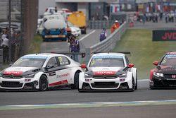 Sébastien Loeb, Citroën C-Elysee WTCC, Citroën World Touring Car team y Jose Maria Lopez, Citroën C-