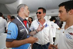 François Ribeiro, Eurosport Events Motorsport Director with Alain Menu