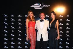 Alejandro Agag, CEO Formula E with model Alessandra Ambrosio
