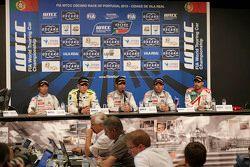 Press conference: Ma Qing Hua, Citroën World Touring Car team, Hugo Valente, Campos Racing, Jose Mar