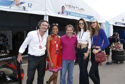 Naomie Melanie Harris, Alessandra Ambrosio, Alejandro Agag, Jacques Villeneuve