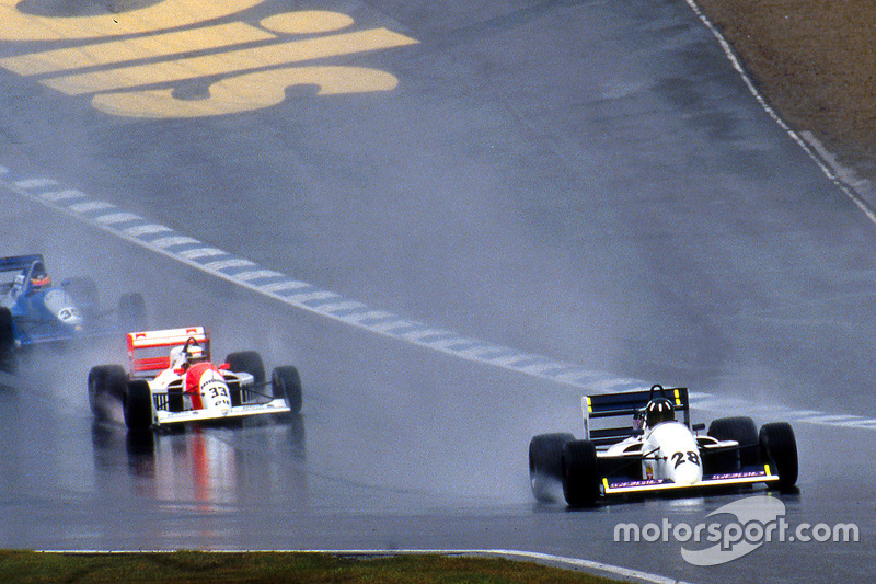 Damon Hill leads Allan McNish and Phil Andrews