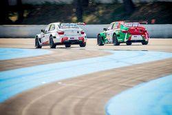 Ma Qing Hua, Citroën C-Elysée WTCC, Citroën World Touring Car team and Mehdi Bennani, Citroën C-Elys
