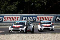 Jose Maria Lopez, Citroën C-Elysee WTCC, Citroën World Touring Car team and Sébastien Loeb, Citroën