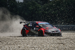 Norbert Michelisz, Honda Civic WTCC, Zengo Motorsport crash