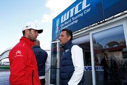 François Ribeiro, Eurosport Events Motorsport Director and Jose Maria Lopez, Citroën C-Elysee WTCC,