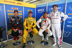 Tom Chilton, Chevrolet RML Cruze TC1, ROAL Motorsport, Rob Huff, Lada Vesta WTCC, Lada Sport Rosneft, Gabriele Tarquini, Honda Civic WTCC, Honda Racing Team JAS, Yvan Muller, Citroën C-Elysee WTCC, Citroën World Touring Car team
