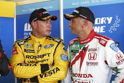 Rob Huff, Lada Vesta WTCC, Lada Sport Rosneft, Gabriele Tarquini, Honda Civic WTCC, Honda Racing Team JAS