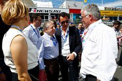 François Ribeiro, Eurosport Events Motorsport Direktor und Jean Todt, FIA Präsident