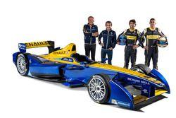 Jean-Paul Driot, Alain Prost, Nicolas Prost, Sébastien Buemi, Renault e.dams