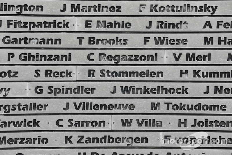 Nürburgring wall of fame