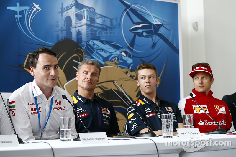 Norbert Michelisz, Honda Civic WTCC, Zengo Motorsport, David Coulthard, Daniil Kvyat, Red Bull Racing and Kimi Raikkonen, Ferrari