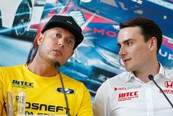 Press conference: Rob Huff, Lada Vesta WTCC, Lada Sport Rosneft and Norbert Michelisz, Honda Civic W