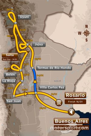 Этап 2: Вилла Карлос Паз - Терма-де-Рио Хондо